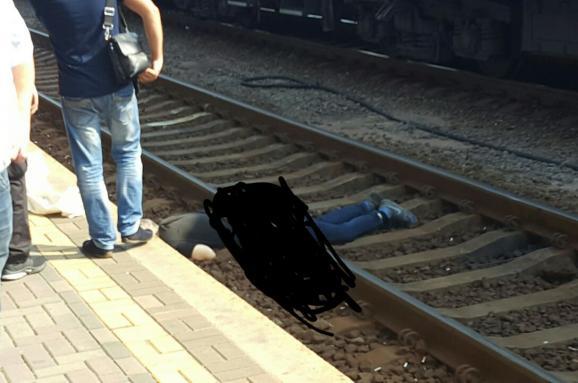 потяг переїхав людину